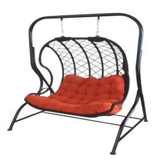 تاب ريلکسي یا صندلي تابي راشا مدل لاک پشتی پایه کنار 3 نفره