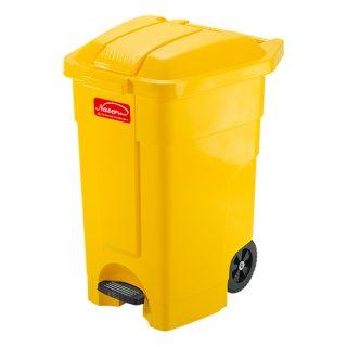 مخزن زباله پدالی چرخدار ناصر پلاستیک مدل 5000