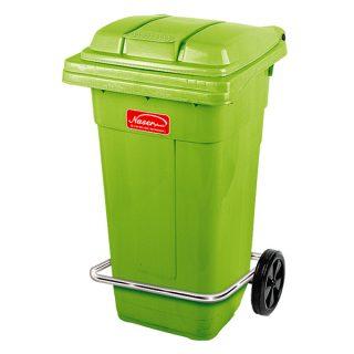 مخزن زباله پدالی چرخدار ناصر پلاستیک مدل 5105