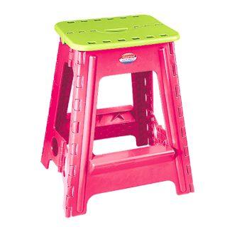 چهارپايه پلاستيكي تاشو ناصر پلاستیک مدل 518