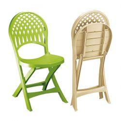 صندلی تاشو پلاستیکی ناصر پلاستیک مدل 857