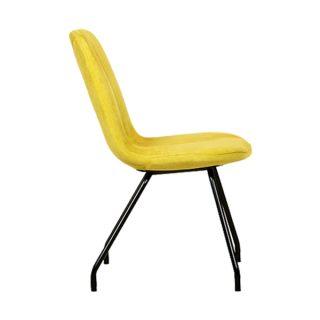 صندلی چهارپایه زرد رنگ نیلپر مدل REF 563i