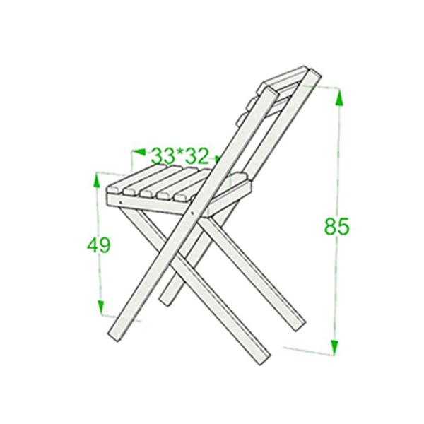 ابعاد صندلی چوبی مدل نوژن