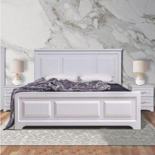 تخت خواب دونفره شیک کاریان چوب مدل کلاسیک