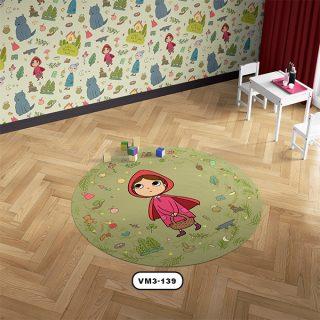 فرش عروسکی دستیکور مدل D0060 در چندسو