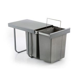 سطل زباله دوقلو 20 لیتری ثامن صنعت مدل S8011