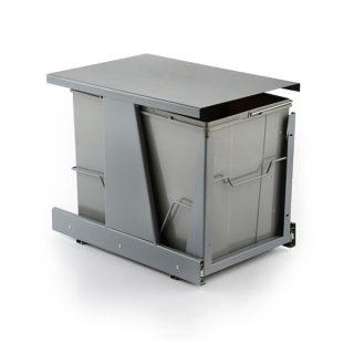 سطل زباله دوقلو 25 لیتری نصب به درب ثامن صنعت مدل S8015