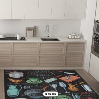 فرش آشپزخانه دستیکور مدل DC006 طرح 186