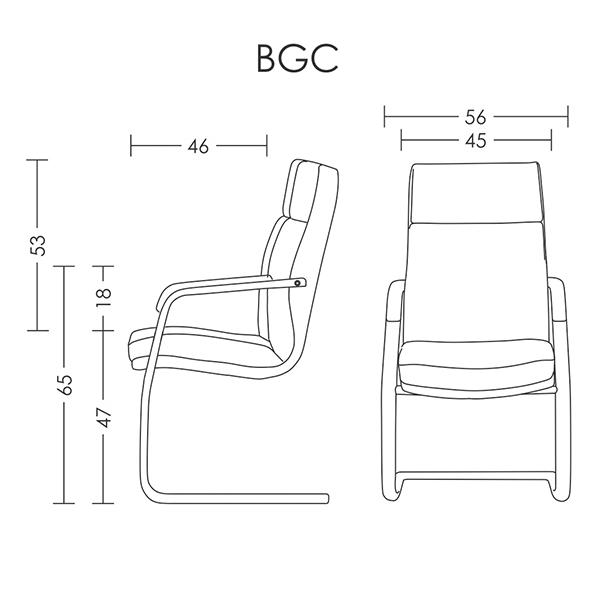 صندلی کنفرانس آرتمن مدل BGC