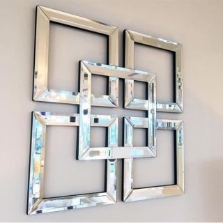 آینه دکوری مدرن پازل مدل A08