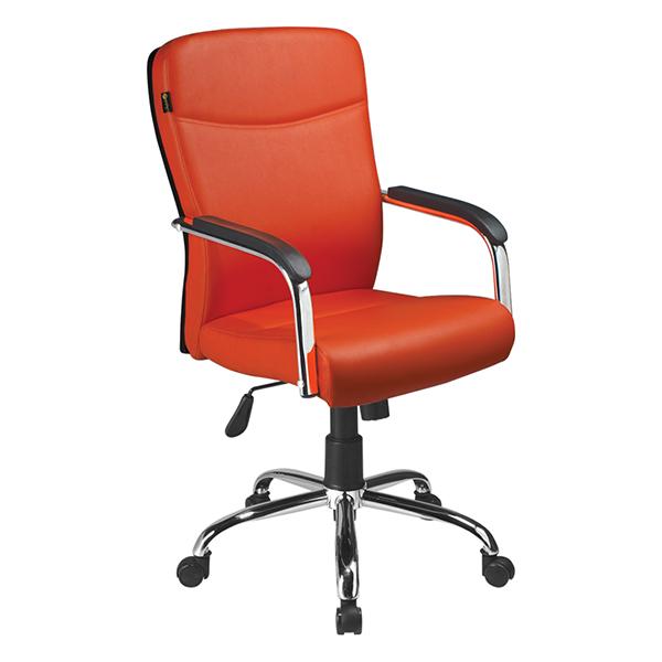 صندلی کارمندی راحتیران مدل F 155 رنگ نارنجی