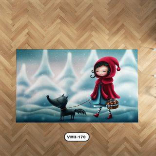 فرش عروسکی دستیکور مدل D0040
