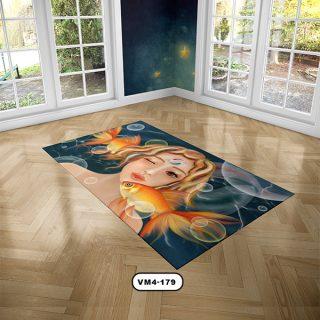 فرش اتاق كودك دستیکور مدل دختر