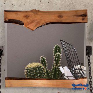 آینه مرالو مدل چوبی