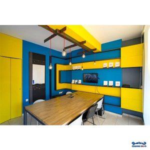 تاثیر رنگ زرد در دکوراسیون داخلی اتاق کار