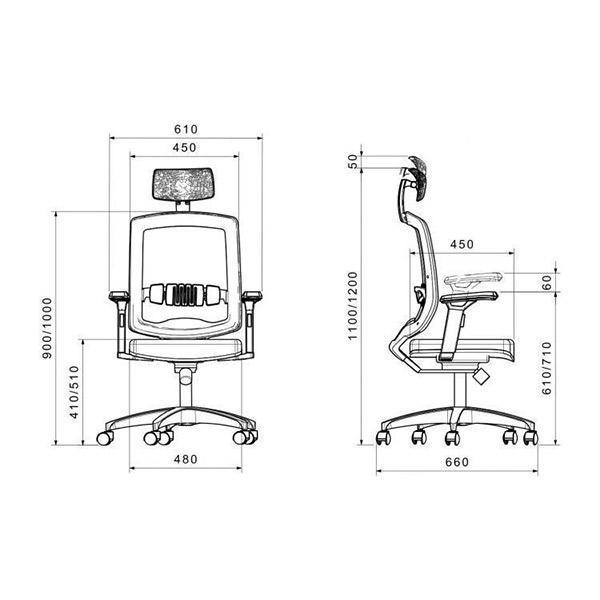 ابعاد صندلی کارشناسی لیو مدل 172spu