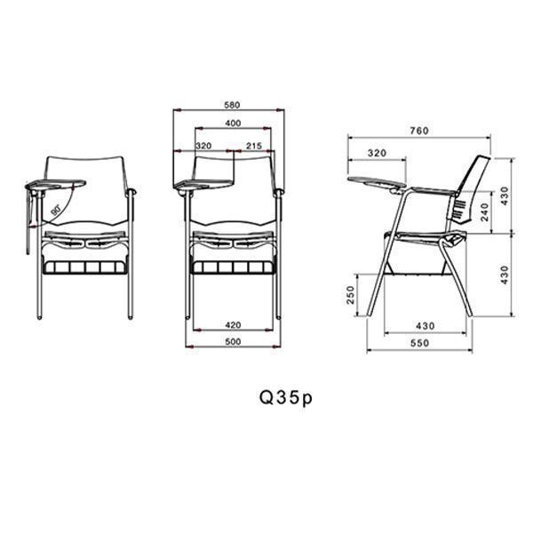 ابعاد صندلی آموزشی لیو مدل Q35p